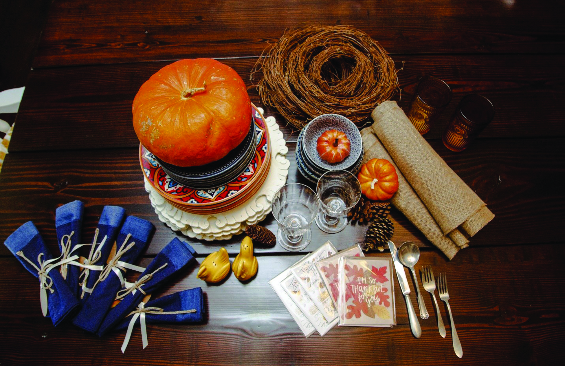 Thanksgiving Tablescape Tutorial by Dorrie Buccafusca
