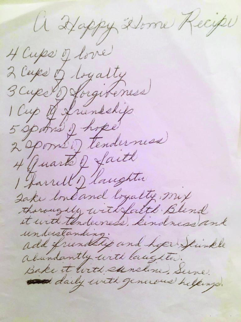 Recipe for Happy Home